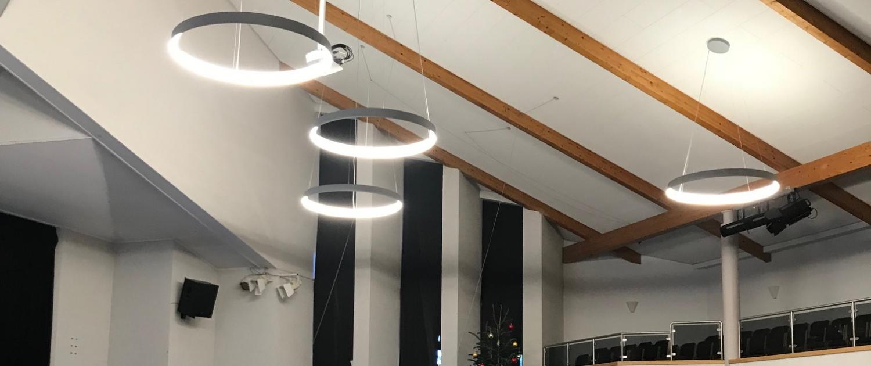 Deckenbeleuchtung des Gemeindehaus in Ubbedissen