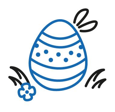 Icon, blaues Osterei