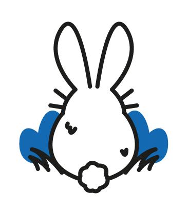 Icon Osterhase von Hinten mit Puschelschwänzchen