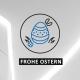 """Icon von einem Osterei mit dem Spruch """"Frohe Ostern"""""""