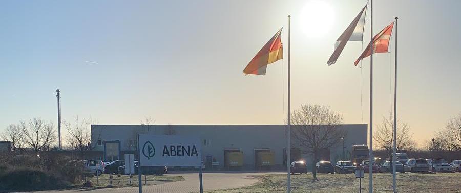 Außenansicht von der Firma Abena in Zörbig