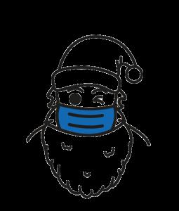 Icon Weihnachtsmann mit Maske